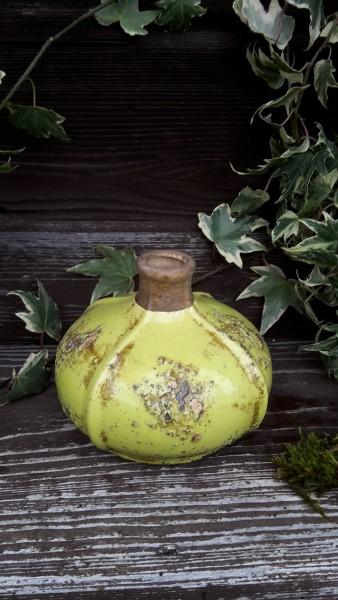 Keramikvase Shabby grün
