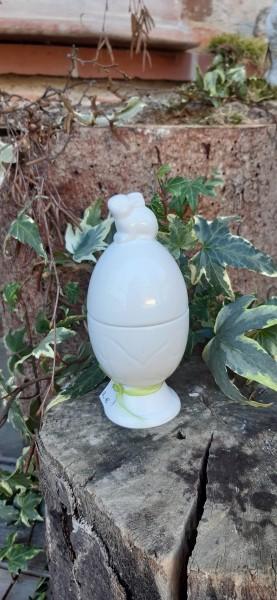 Eierbecher Mit Deckel Weiß