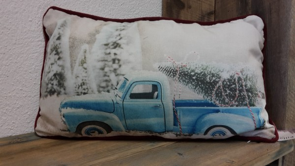 Kissen Truck Blau