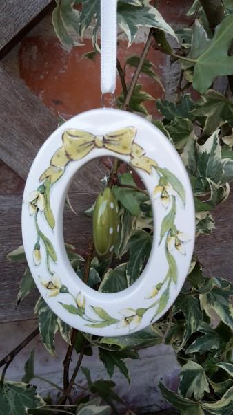 Keramikanänger Ei Grün