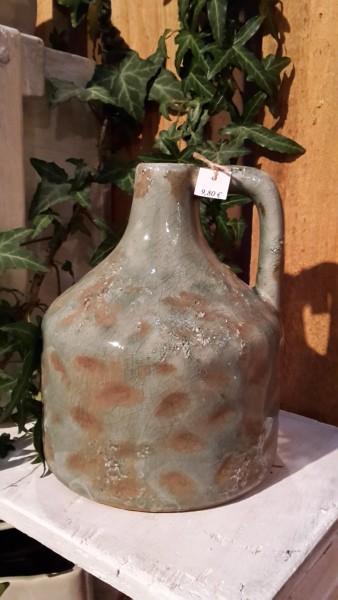 Keramikvase Antique Turqoise hoch