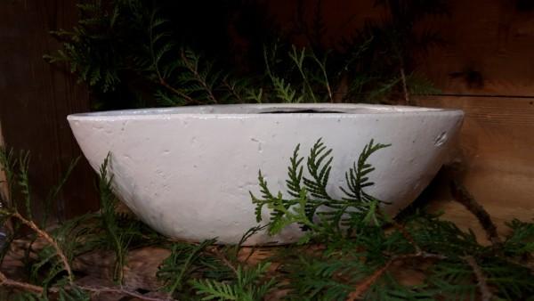 Keramikschiff weiß groß