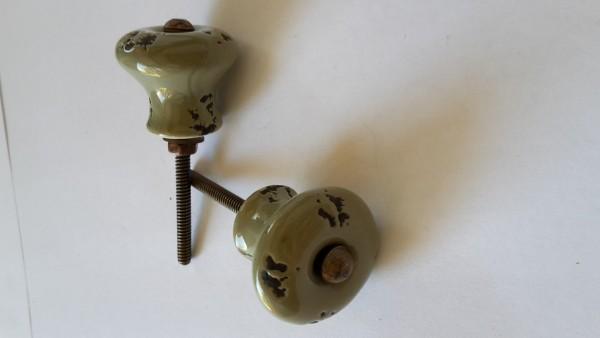 Möbelknopf Lindgrün Antik