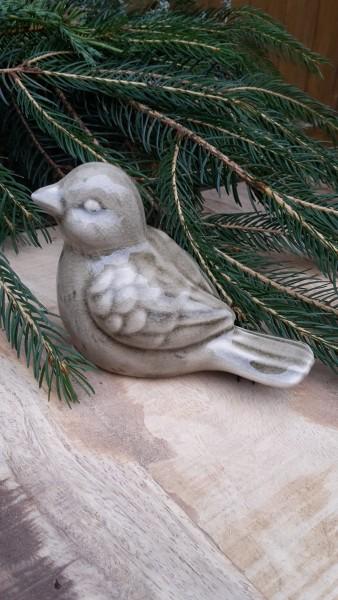Keramikvogel Beige