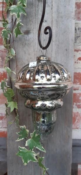 Glaszapfen Silber groß