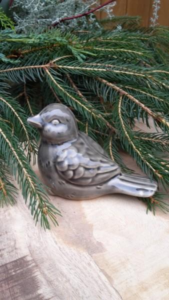 Keramikvogel Grau