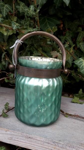 Windlichtglas Grün Klein