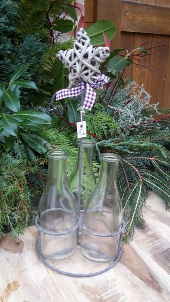 Weihnachtsständer für 3 Flaschen