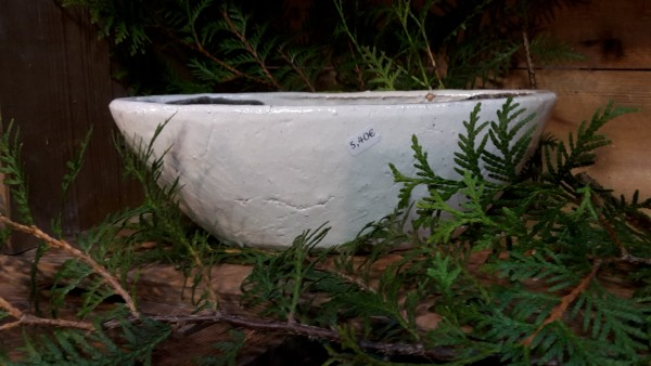 Keramikschiff weiß klein