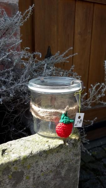 Vorratsglas Erdbeere