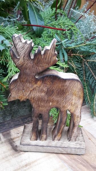 Elch aus Holz klein