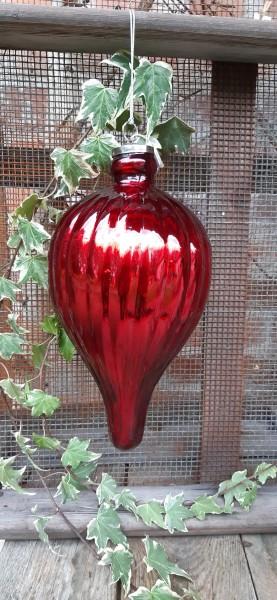 Glaszapfen rot