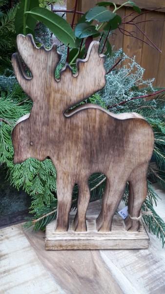 Elch aus Holz groß